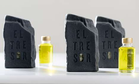 Excavation-Inspired Oil Packages - El Tresor's Packaging Unearths a Precious Bottle of Olive Oil