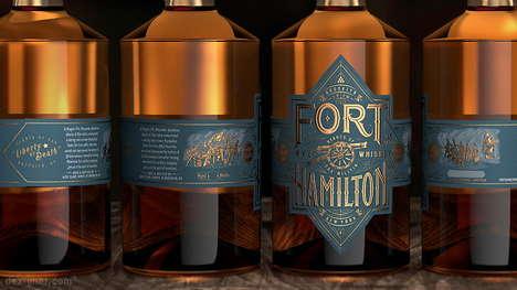 Luxuriously Branded Rye Whiskeys