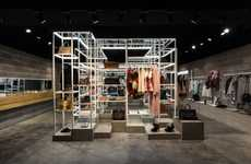 Gridded Apparel Displays