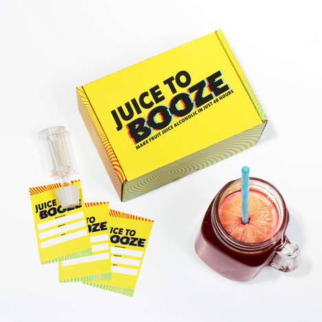 "Juice Fermentation Kits - Firebox's 'Juice to Booze' Uses ""Magic Powder"" to Create Alcoholic Drinks"