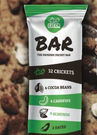 Cricket-Based Energy Bars - The Swedish Cricket Bar Contains Only Six Ingredients