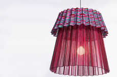 Skirt-Shaped Lamps - Thabisa Mjo Crafts the Tutu 2.0 Pendant Light Combining Cultures and Ideas