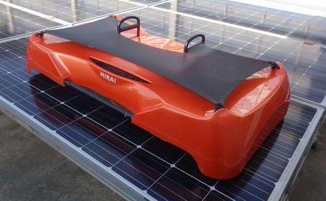 Solar Cell-Scrubbing Robots