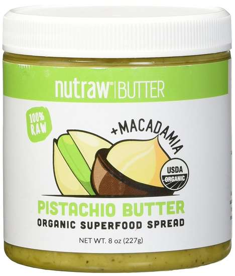 Pistachio Superfood Spreads - Nutrawbar Offers Pistachio Butter as a 100% Raw and Organic Spread