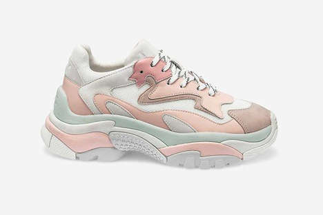 Millennial Pink Chunky Sneakers