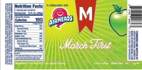 Candy-Flavored Alcoholic Ciders - March First Brewing's Newest Cider is Green Apple Airhead Flavored