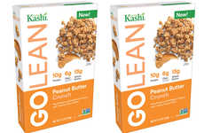 Nutty Plant Protein Cereals - The Kashi Golean Peanut Butter Crunch Cereal is Healthy and Tasty