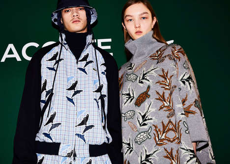 Endangered Species-Supporting Runways - LACOSTE and IUCN Boast Nature Through Fashion with a Cause