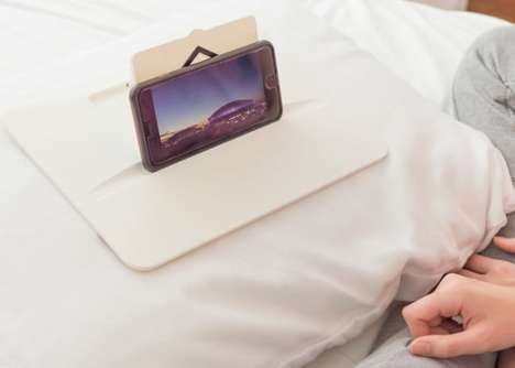Bed-Friendly Device Holders - The 'MYSA' Stand Sits Securely on Your Bed Pillows