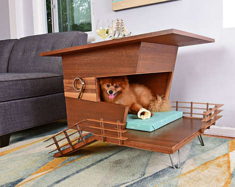 Wooden Contemporary Dog Houses - Design Studio PDW Offers a Mid-Century Approach to Dog Abodes