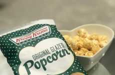 Donut-Flavored Popcorns - The Krispy Kreme 'Original Glazed' Popcorn is Available Only in the UK