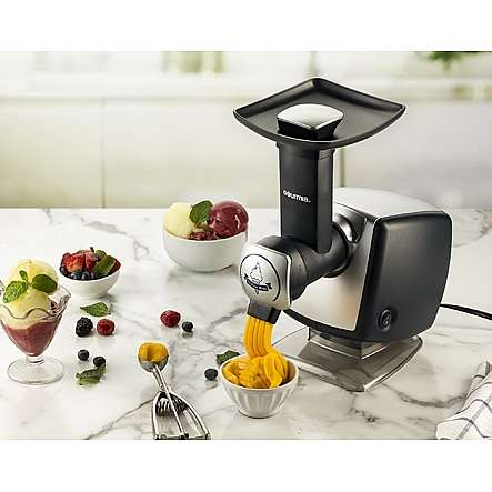 Frozen Fruit Sorbet Appliances - The Gourmia GSI180 Automatic Frozen Dessert Maker is Simple to Use