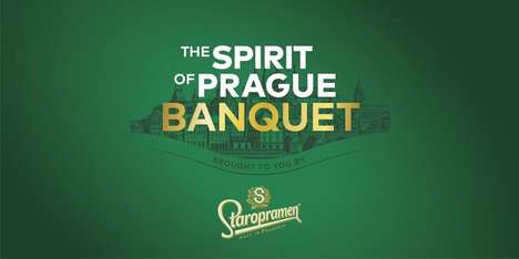 Celebratory Heritage Banquets - Staropramen's Spirit of Prague Event Takes Diners Back to the 90s