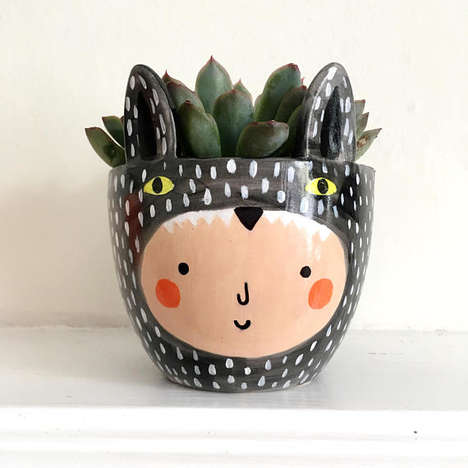 Rosy-Cheeked Plant Pots