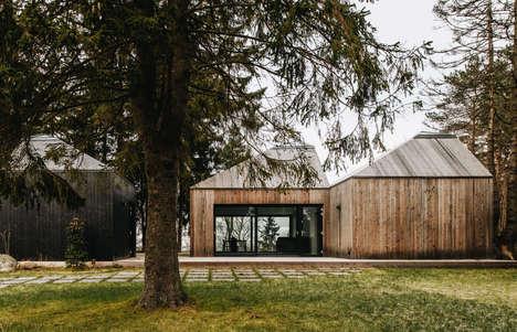 Estonian Angular Roof Houses