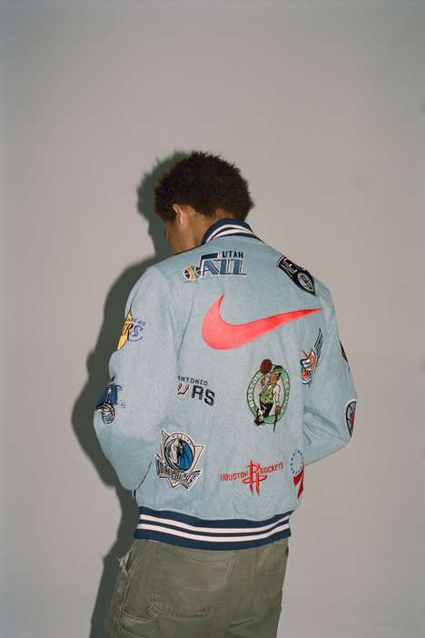Collaborative Collaged Collections - The Supreme x Nike NBA Capsule is Graphic and Heavily Branded