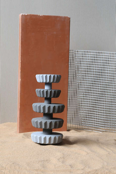 Iranian-Inspired Concrete Tableware