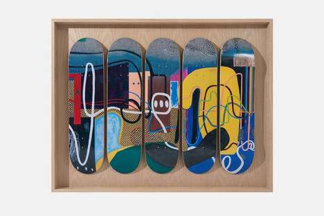 Abstract-Motif Skate Decks