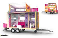 Tiny House Toys - The Kidkraft 'Teeny House Dollhouse' Sits on a Trailer Bed for On-the-Go Play