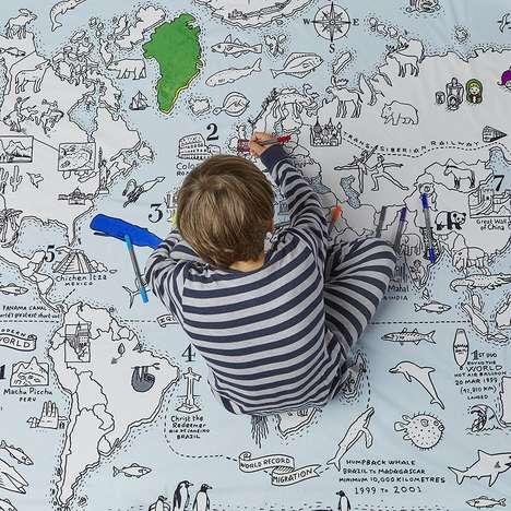 DIY Doodle Map Bedding