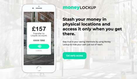 Location-Based Money Management Apps - MoneyLockup Uses AR to Gamify the Money-Saving Experience