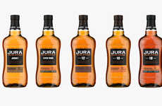 Premium Accessible Whiskey Collections - The Jura Signature Series Whiskeys Features Five Options