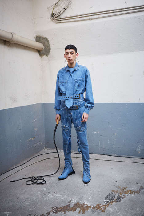 Rodeo-Inspired All-Denim Fashion - Shayne Oliver is the First Designer in a Three-Part Diesel Line