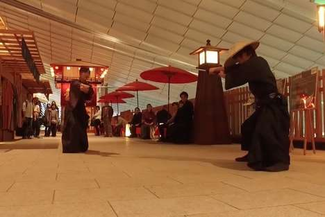 Airport Samurai Film Events - Travels at the Haneda Airport Can Take Part in a Samurai Sword Fight