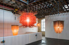 Luminous Sculptural Chandeliers