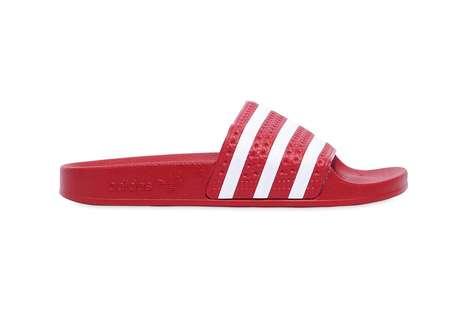 Fiery Red Slide Shoes