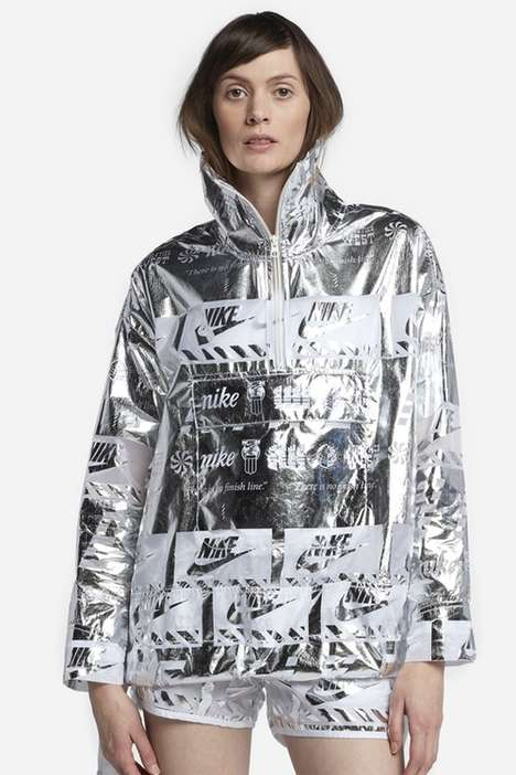 Silver Metallic Windbreakers