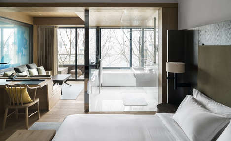 Serene Luxury Hotel Designs - The At One Hotel Outside of Shanghai Overlooks Yangcheng Lake