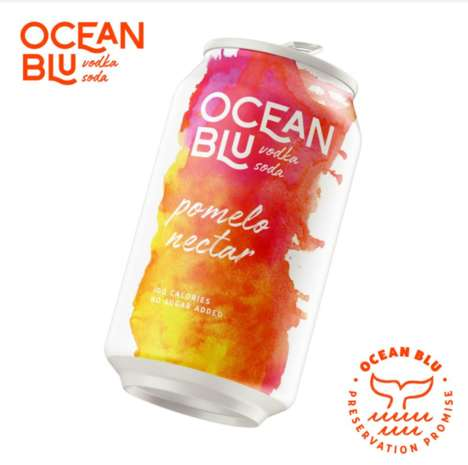 Ocean Conservation-Focused Vodkas - Ocean Blu Supports Environmental Causes and is Low in Calories