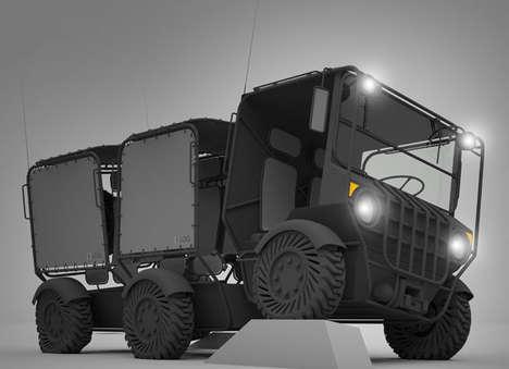 Modular Electric Military Vehicles