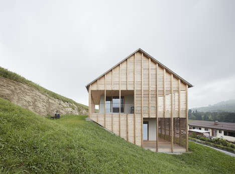 Partially Buried Timber Homes