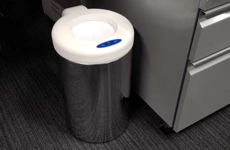 Futuristic Touch-Less Trashcans