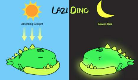 Luminous Dinosaur Slippers