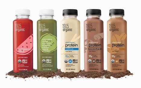 Diverse Plant Protein Beverages