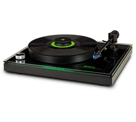 Green Glowing Turntables