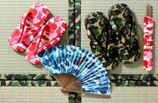 Heritage Streetwear Accessories - The All-New BAPE Getas and Fans Update Traditional Asian Items