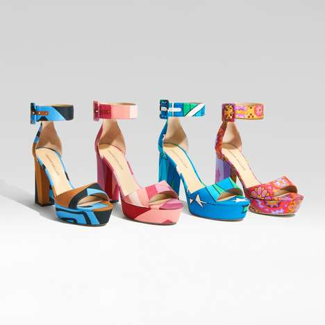 Colorful 70s Platform Sandals