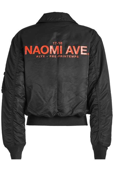 Address-Accented Bomber Jackets