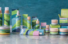 Cool-Colored Skincare Brands - PLASINIA's Packaging Pays Tribute to the Region It's Sourced From