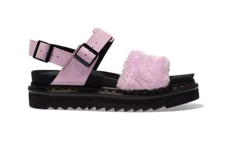 Fluffy Pink Sandals