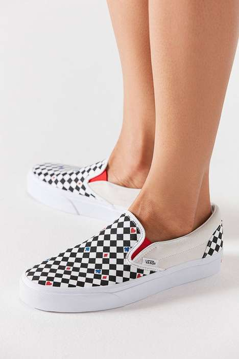 Card Suit-Inspired Sneakers
