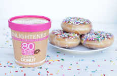 Donut-Infused Ice Creams - The ENLIGHTENED Glazed Donut Ice Cream is Just 80 Calories Per Serving