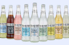 Infused Tonic Water Mixers - The Fever-Tree Refreshingly Light Mixers are Low in Calories