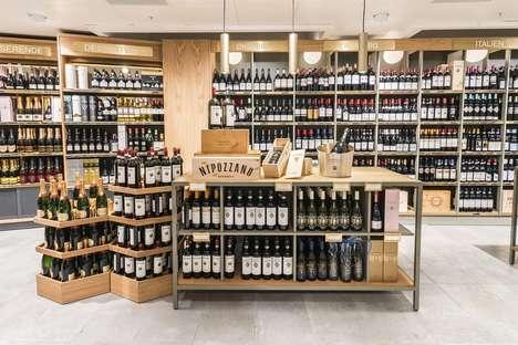Raw Oak Wine Displays