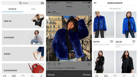 Shoppable Fashion Search Apps