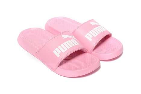 Bubblegum Pink Slide Shoes